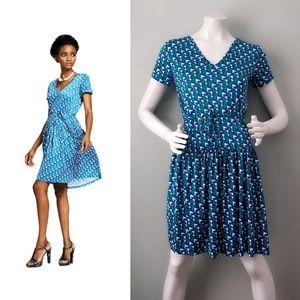 Duro Olowu JCP Confetti Triad Drop Waist Dress XS